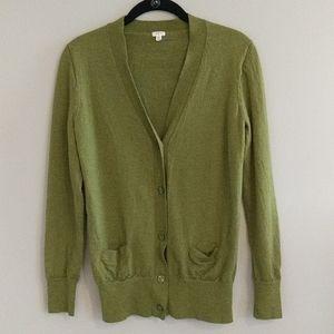 J Crew Factory Merino Wool Cardigan Sweater XL